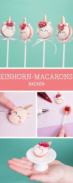 Es wird magisch: Rezept für süße Einhorn Macarons, Geschenkidee / sweet recipe for magic lovers: unicorn macarons via DaWanda.com