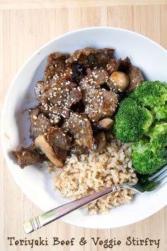 Teriyaki Beef and Veggie Stirfry ~ freezer friendly recipe from 5DollarDinners.com