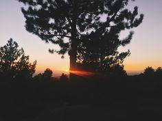Sunset   open road empty sky