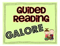 What the Teacher Wants!: Guided Reading Galore! Great to use with Daily 5 and Cafe!