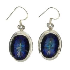 Mystic Topaz Sterling Silver Earrings Jewelry Blue Purple Green Gemstone YOU444 #Younique #DropDangle