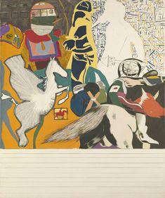 Isaac Babel gaat uit rijden met Budyonny ~ 1962 ~ Olieverf op doek ~ 182,9 x 152,4 cm. ~ Tate Gallery, Londen ~ © The estate of R. B. Kitaj
