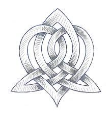"""Celtic Sisters Knot """"The Heart, which symbolizes compassion, is entwined in a stylized triquetra. The triquetra represents the three phases of womanhood: maiden, mother, and crone.This design is created with one unbroken line to remind one of the eternal of love of sisters. """" @Leslie Lippi Lippi Malin"""
