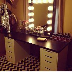 Makeup Organization Ikea Organizers Mirror 16 Ideas For 2019 Makeup Beauty Room, Makeup Rooms, My New Room, My Room, Makeup Organization Ikea, Organisation Ideas, Makeup Vanity Storage, Makeup Vanities, Boudoir