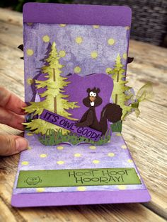 Sizzix A2 Pop 'n Cuts Base plus Label Insert - Monique's weblog: Verjaardagskaart / birthday card