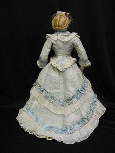 14″ Antique FRENCH FASHION Doll c1876 PERREAU Au Paradis des Enfants