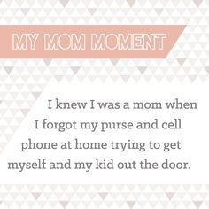 We love being Moms - even if that means dealing with the forgetfulness that comes along with our hectic schedules.  What's Your Mom Moment? #BigDot #HappyDot #MomMoment