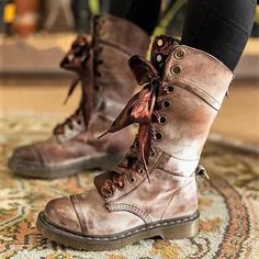 New Spring And Autumn Women's Shoes, Flat Martin Boots Leather Flat Boots Shoes Woman Plus Size Low Heel Boots, Heeled Boots, Shoe Boots, Women's Shoes, Golf Shoes, Dance Shoes, Timberland Stiefel Outfit, Flat Leather Boots, Flat Boots