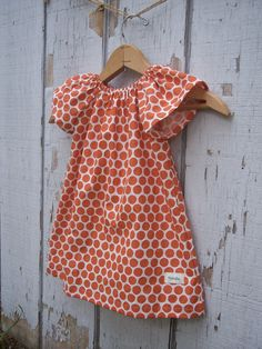 orange polkadots