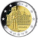 2 euro Federal state of Bremen  - 2010 - Series: Commemorative 2 euro coins - Germany