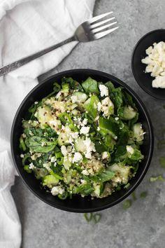 Cucumber Quinoa Salad with Feta- @naturallyella