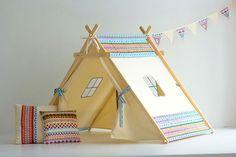 Teepee/ Льняной вигвам/ Палатка/ Детский игровой домик/ Детская комната/ Вигвам