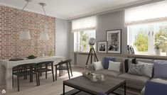 Podobny obraz Small Apartments, Small Spaces, Living Area, Living Room Decor, Studio Living, Interior Decorating, Interior Design, Dinning Table, Dining Room