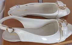 Apostrophe Shoes Sandals Cream New Sz 8.5M #Apostrophe #Slingbacks