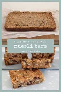 Healthy Snacks 567383253040395627 - HEALTHY & HOMEMADE MUESLI BARS… these are SO popular! Perfect for a quick and easy snack, or breakfast on the run! These are the most popular muesli bars on my website! Source by bakeplaysmile Easy Snacks, Healthy Snacks, Healthy Slice, Protein Snacks, High Protein, Eating Healthy, Cereal Recipes, Snack Recipes, Health Recipes