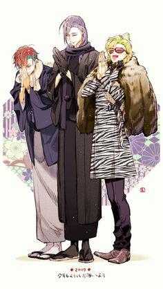 5 Anime, Anime Art, Character Art, Character Design, Handsome Anime Guys, Rap Battle, Drawing Reference Poses, Anime People, Touken Ranbu