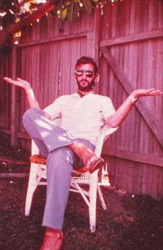 Ringo Starr wearing Omega Time Computer watch gifted by Keith Moon