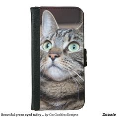 Keep your iPhone 6 or safe with unique iPhone cases from Zazzle. Choose from well-known brands such as OtterBox, Case-Mate, Speck, & more! Iphone 6 Wallet Case, Beautiful Green Eyes, Unique Iphone Cases, Store Design, Cat Lovers, Kitty, Cats, Animals, Little Kitty