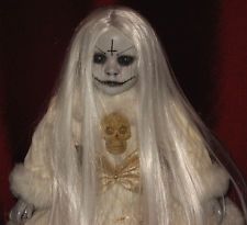 Creepy Horror Gothic Ooak Porcelain Art Doll Beautiful Winter Demon By L. Ganci