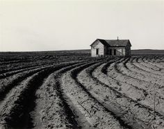 Artwork by Dorothea Lange, Tractored Out, Childress County, Texas, Made of Silver print