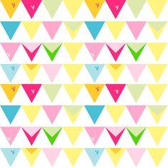 free digital bunting scrapbooking paper - ausdruckbares Geschenkpapier - freebie   MeinLilaPark – DIY printables and downloads