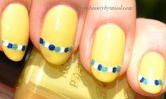 dots, yellow, #manicure #nail