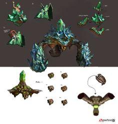 Concept art for Borderlands 2 for Enemy Crystalid