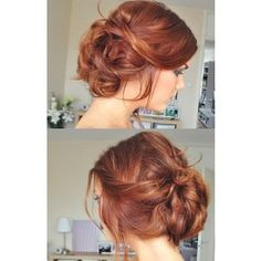 Braid Hair Style Very Fun and casual weekend upstyle, perfect for date night. Bohemian bun!
