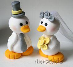 Duck Wedding Cake Topper | Flickr: Intercambio de fotos