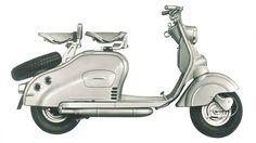 NSU Lambretta, 1951.
