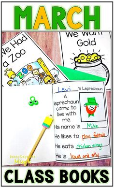 Are you looking for a fun shared writing activity to complete with your class? This set includes 5 class books that can be completed during the month of March! Your students will love creating these books so that they can enjoy reading them all year long! St Patrick Day Activities, Spring Activities, Kindergarten Activities, Writing Activities, Letter Activities, Holiday Activities, Preschool, Class Books, Children's Books