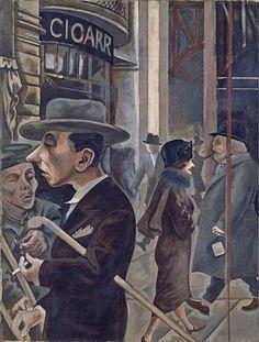 Street Scene (Kurfürstendamm) - George Grosz | Museo Thyssen