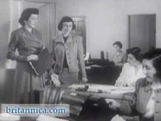 Office Etiquette 1950 - this video is a little ridiculous, but the look and feel is great.