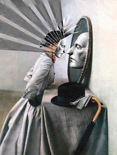 """Objects in the Mirror Are Closer That They Appear."" - by Julia Lillard Photo Collage Design, Visual Metaphor, Pop Art Illustration, World Images, Mirror Art, Canvas Prints, Art Prints, Surreal Art, Female Art"