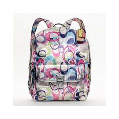 95c1c4a687 Coach Poppy Ikat Backpack ( 258) ❤ liked on Polyvore featuring bags