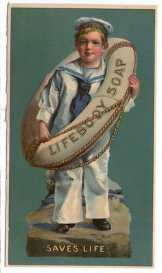 Advertisement Lifebuoy Soap 'saves Life' with a little boy in sailor suit