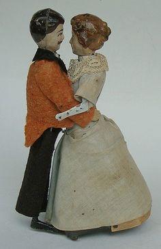 """""""Les Valseurs"""" 1910.  Dancing couple."""
