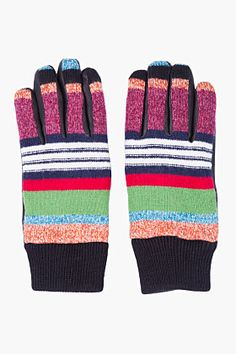Y-3 Multicolor Leather Trim Nomad Gloves