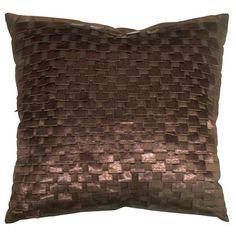 brown textured throw pillow