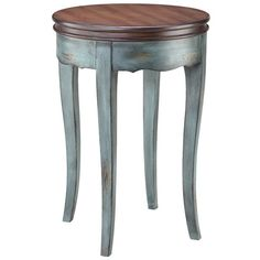 Aged Blue Accent Table.