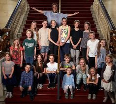 The Danish Group of people who is going to play in The Sound of Music on Det Ny Teater in Copenhagen Denmark