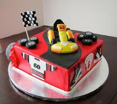 Cakegirl on the Run: Back in the Saddle Again: 60th Birthday Go-Kart/Hockey Cake Boy Birthday Parties, 60th Birthday, Hockey Cakes, Specialty Cakes, Cupcake Cakes, Car Cakes, Party Themes, Party Ideas, Go Kart