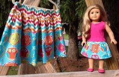 Doll 'n Me Matching Twirl Skirt Lollipop Owl by lylabugcreations, $40.00