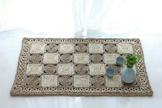 Rustic patterned rug/Doormat /Christmas gift/Area Rug / meditation cushion/Straw mat/baby rug/wedding gift/Valentines Day/meditation mat by GrasShanghai on Etsy
