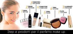 Infografica per realizzare una base #trucco perfetta. How to make a perfect #makeup base. #beauty #bellezza