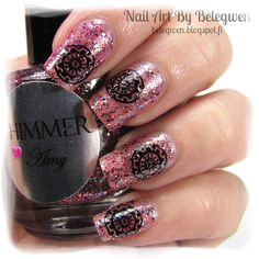 Nail Art by Belegwen: Shimmer Polish: Amy