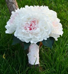 wedding bouquet artificial PU real touch and  silk by Wendyslife, $65.00