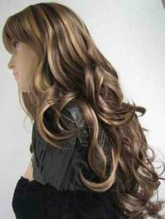USJF194 Long blonde mix brown curly women s wig wigs for women 26112770c7