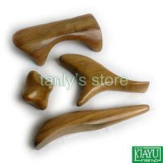 Gift gua sha chart & bag! Wholesale scented wood beauty face massage guasha set 4pcs/set (ITEM NO 3)