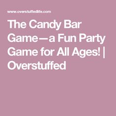 The candy bar game is a fun party game that will be loved by kids, teens, and adults alike! Fun Group Games, Fun Party Games, Games To Play, Party Ideas, Family Reunion Activities, Family Reunions, 13th Birthday, Birthday Parties, Christmas Gift For Your Boyfriend